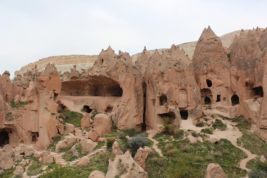 kappadokien, cappadocia, oplevelser i kappadokien, tyrkiske byer, mest berømte landskaber, vulkan landskab