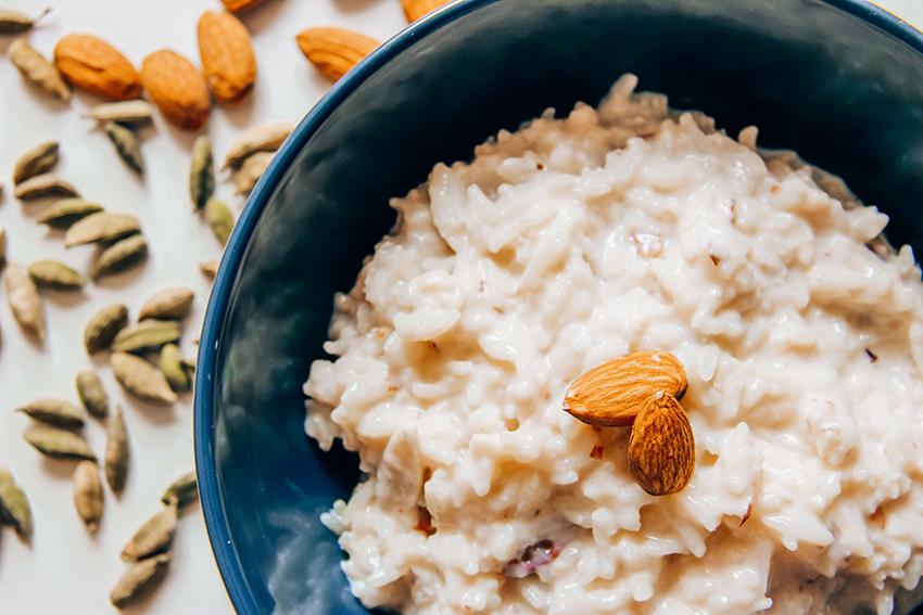 Kheer, indisk dessert, punjabi dessert, indisk risdessert, dessert med ris, ris dessert fra indien, nemme udenlandske desserter, nemmen indiske desserter, dessert fra indien