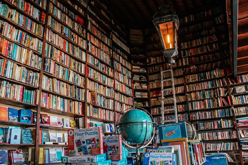 Bookshop Nicosia, Nicosia book shop, instagram spots i Nicosia, Nicosia instagram spots, unikke cafeér i Nicosia, Nicosia cafeér