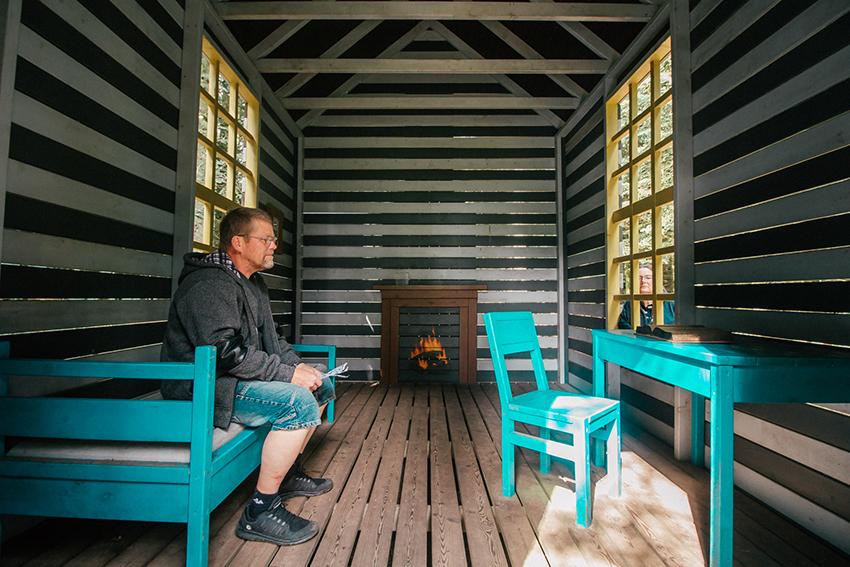 Shelter i kunst, kunst shelter, luksus shelter, Kibæk Shelter, Herning Shelter, Deep art forest, forest art land,