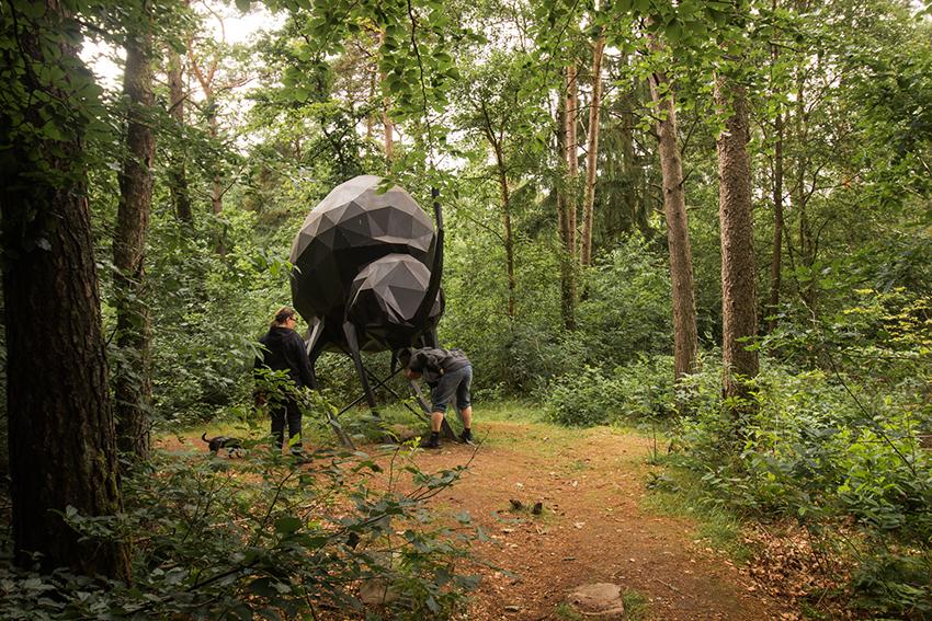 Deep forest land, Deep art land, kunst skov, monster i skoven, herning seværdighed, kunst i skov, skulptur skov,