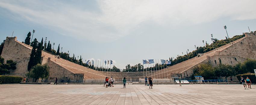 Panathenaic stadium, Panathenaic stadium Athen, Olympisk stadion Athen, Historiske steder i Athen, Athen historiske steder, seværdigheder i athen, hvad kan man lave i athen, rejseguide til Athen, oplevelser i Athen,