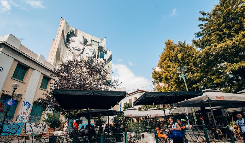 Psyri, street art i Athen, byer med street art, graffiti i Athen,Historiske steder i Athen, Athen historiske steder, seværdigheder i athen, hvad kan man lave i athen, rejseguide til Athen, oplevelser i Athen,