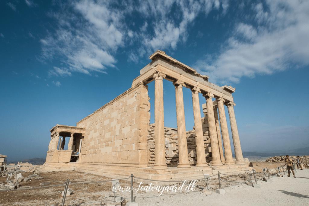 Erechtheion, Erechtheion templet, tempel Erechtheion, bygninger i akropolig, gode råd til akropolis, guide itl akropolis, hvad skal man se på akropolis