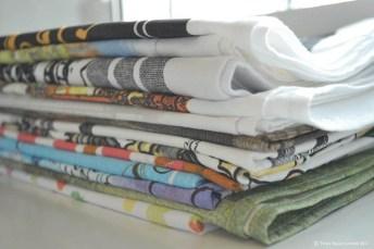 layered Tea towels