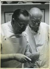 Prof. Ludwik Paszkiewicz (foreground)