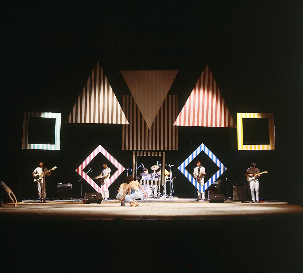 Boccascena/ 40 minuti a Venezia, di Daniel Buren,  regia di Carlo Quartucci, Biennale di Venezia, teatro Malibran, 1984.