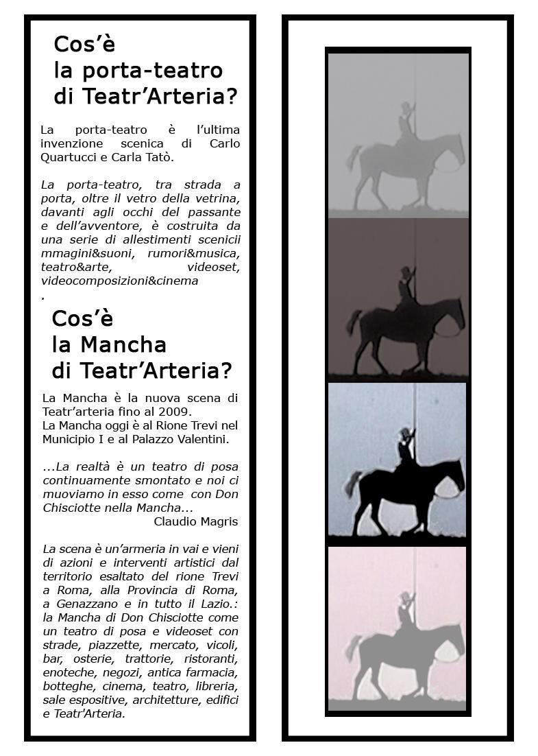 programam di sala la porta/teatro di Teatr'Arteria, settembre/dicembre 2009.