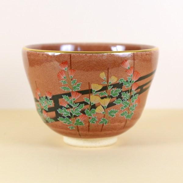 Vintage Flower Stalks Matcha Bowl