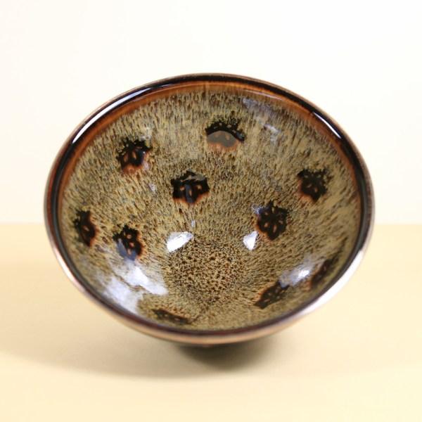 Vintage Matcha Bowl - Papercut Flowers