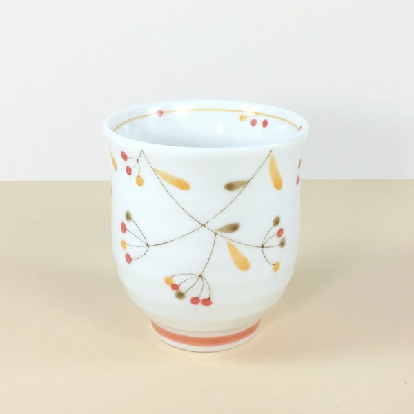 Japanese Porcelain Orange Tree Fruit Teacup