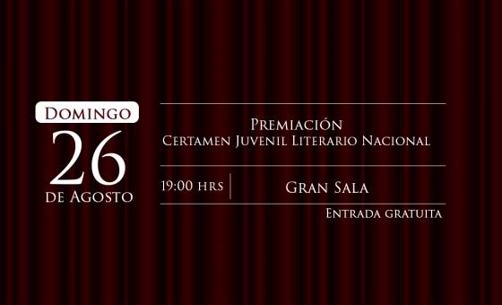 Premiación del Certamen Juvenil Literario Nacional