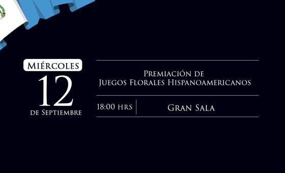 Premiación Juegos Florales Hispanoamericanos