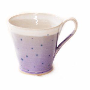 Purple Polka Dot Cup