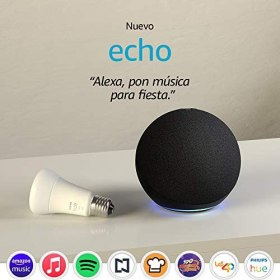 Nuevo Echo (4ta Gen) - Con sonido de alta calidad, hub de Casa Inteligente y Alexa - Negro