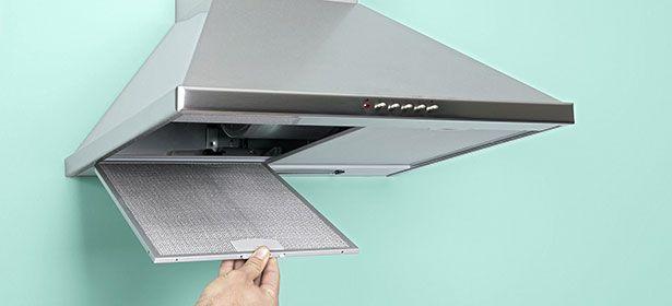 Filtro instalado en la cabeza del horno 386653