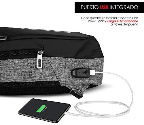 Redlemon Mochila Cruzada Impermeable Mini con Puerto USB 4