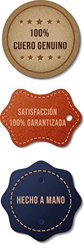 PIO RUIZ ® Cartera de piel con cierre ZIP WALLET Negro/Azul 2