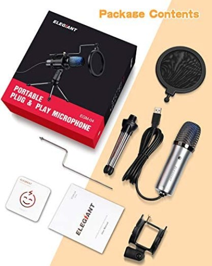 Microfono de Condensador PS4 con Tripode