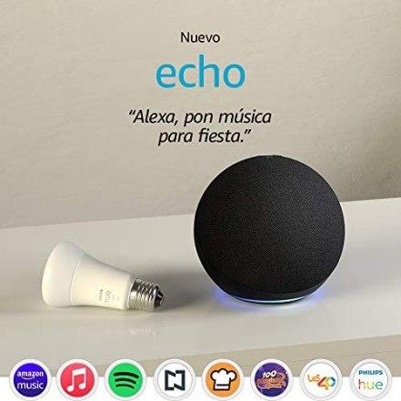 Nuevo Echo (4ta Gen) - Con sonido de alta calidad, hub de Casa Inteligente y Alexa - Negro 1