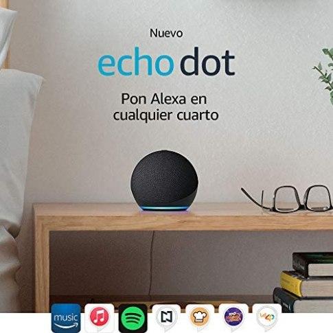 Nuevo Echo Dot 4ta Gen Bocina inteligente con Alexa 1