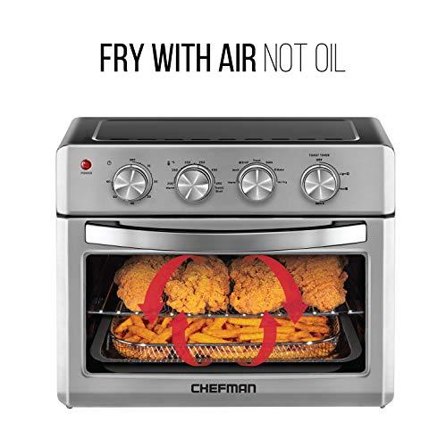 Chefman | Horno Freidora de Aire de 25 Litros | Fríe sin Aceite | Acero inoxidable 2