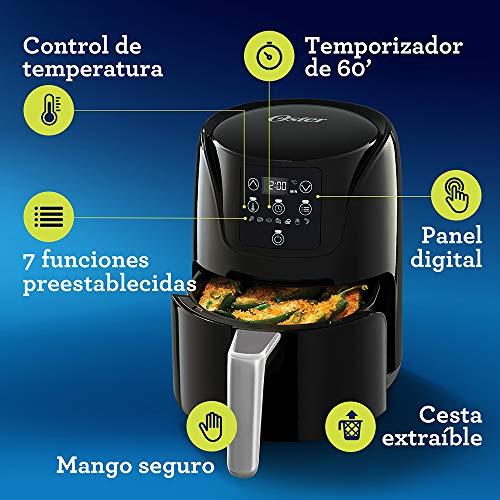 freidora de aire oster (cocina hasta 20% mas rapida, bioceramica, facil de usar) 6