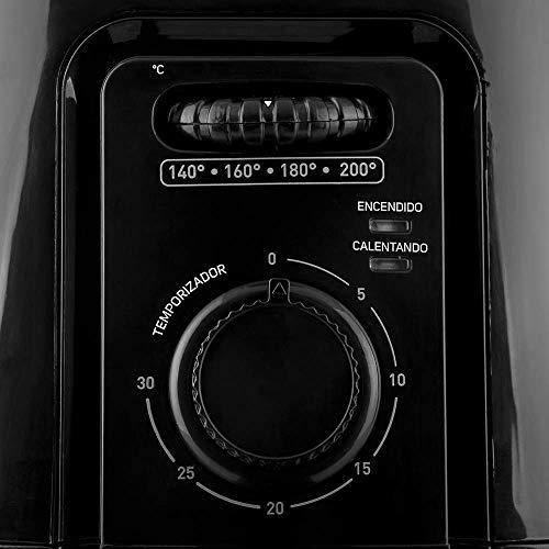TAURUS HERMES Freidora de Aire, 4 L (4.2 Qt), Temporizador, Multifunción + Recetario Incluido, Negro, Grande 6