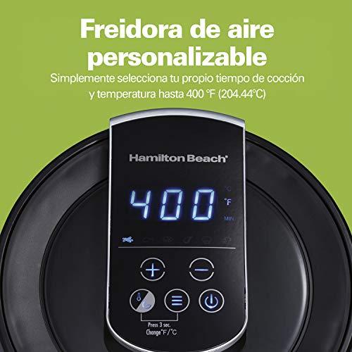 Hamilton Beach 35050 Freidora de Aire Digital Capacidad 2.5 Litros, 6 Configuraciones, Porción 2-3 Personas. 4