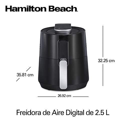 Hamilton Beach 35050 Freidora de Aire Digital Capacidad 2.5 Litros, 6 Configuraciones, Porción 2-3 Personas. 8