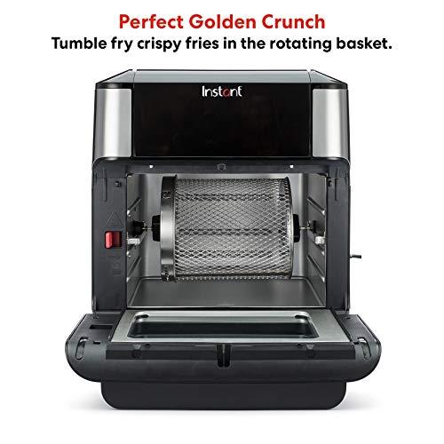 Instant Vortex Freidora de aire con programas de cocción de un solo toque, para fritura de aire, asar, hornear, recalentar, 7 en 1, Con asador, asado, broil, hornear, recalentar y deshidratar., 10 Qt, 1 8