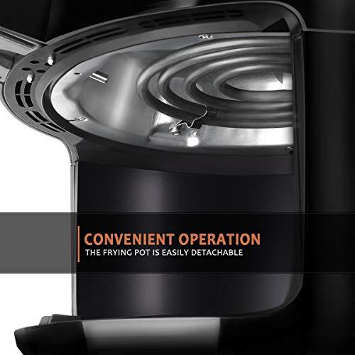 Ultrean Freidora de Aire, eléctrica de 4 Litros para freidoras de Aire Caliente con Visualización Digital LCD y congelador fácilmente extraíble, certificado ETL / UL. 1500 W (negro) (renovado) 5