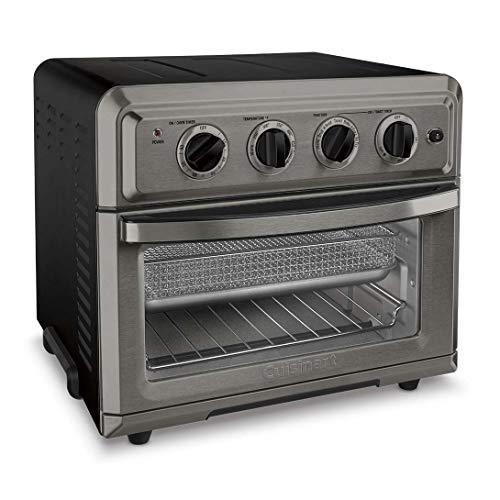 Cuisinart TOA-60BKS Freidora de aire para horno tostador, negro SS 2