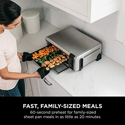 """Ninja Foodi 8-in-1 Digital, Toaster, Air Fryer, with Flip-Away for Storage Multi-Purpose Counter-top Convection Oven (SP101), 19.7"""" W x 7.5""""H x 15.1""""D, Stainless Steel/Black 7"""