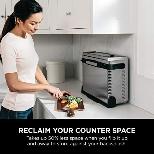 """Ninja Foodi 8-in-1 Digital, Toaster, Air Fryer, with Flip-Away for Storage Multi-Purpose Counter-top Convection Oven (SP101), 19.7"""" W x 7.5""""H x 15.1""""D, Stainless Steel/Black 9"""