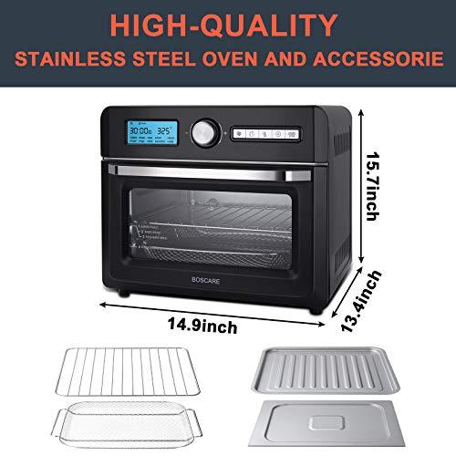 BOSCARE Freidora de aire horno y horno asador, freidor, asador, asado, asado, hornear, recalentar y deshidratar 5