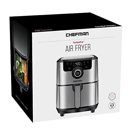 Chefman Freidora de Aire Digital de 4 Litros | Airfryer | Ajustes Preestablecidos | Acero inoxidable 7