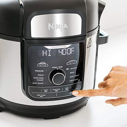 Ninja FD401 Foodi 8-Quart 9-in-1 Deluxe XL Olla a presión, Asar, deshidratar, cocinar a fuego lento, freidora y más, con acabado inoxidable 5