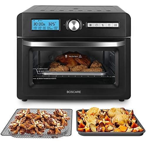 BOSCARE Freidora de aire horno y horno asador, freidor, asador, asado, asado, hornear, recalentar y deshidratar 1
