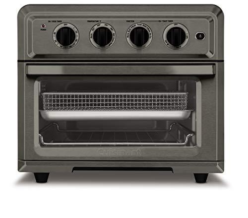 Cuisinart TOA-60BKS Freidora de aire para horno tostador, negro SS 1