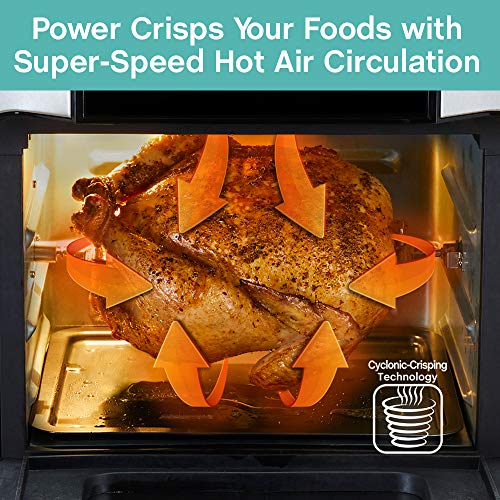 West Bend Freidora de aire eléctrica de 12.6 cuartos de galón con 10 presets digitales de menú rápido - hornear, asar, asar, deshidratar, recalentar, 1700 vatios, color negro 2