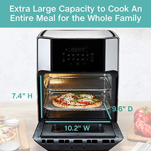 West Bend Freidora de aire eléctrica de 12.6 cuartos de galón con 10 presets digitales de menú rápido - hornear, asar, asar, deshidratar, recalentar, 1700 vatios, color negro 7