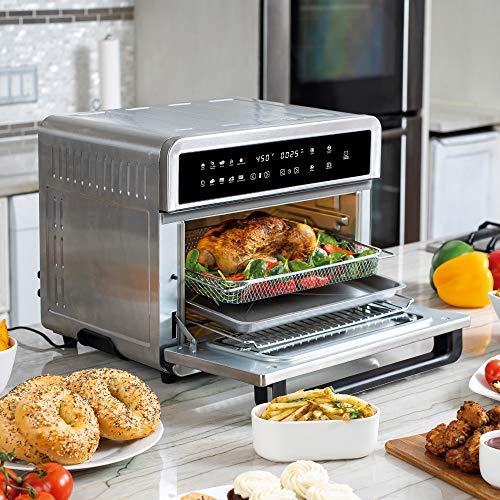 Freidoras Aria Air ATO-898 Freidora de aire para horno tostador, 30 qt, acero inoxidable cepillado 8