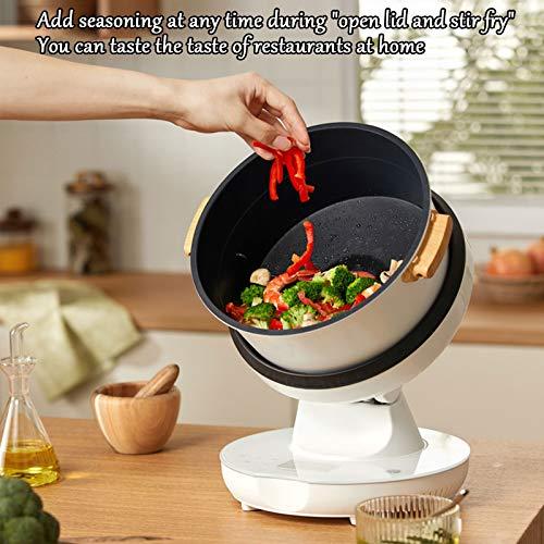 HXXXIN Máquina De Cocción Inteligente Multifuncional para Cocinar Al Vapor, Freír, Guisar Y Freír para Satisfacer Todas Las Necesidades. Máquina De Cocción Doméstica Completamente Automática 6