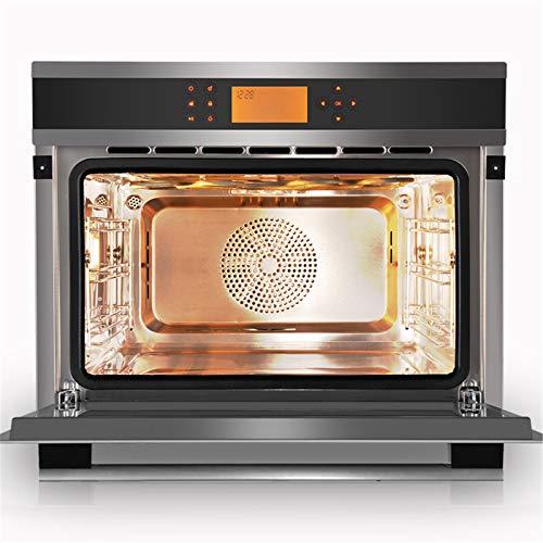 Horno único ventilador de acero inoxidable A Rendimiento energético Solo horno microondas en plata Tact Premium convección horno horno halógeno ideal para asar y hornear 3
