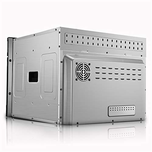 Horno único ventilador de acero inoxidable A Rendimiento energético Solo horno microondas en plata Tact Premium convección horno horno halógeno ideal para asar y hornear 5
