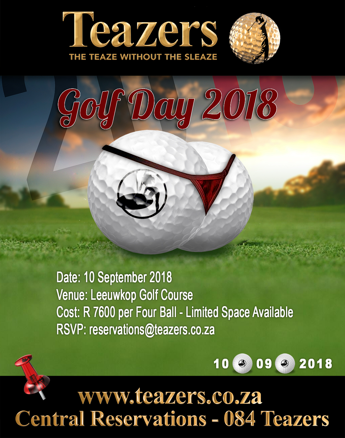 Golf Day 2018 – Booking Details