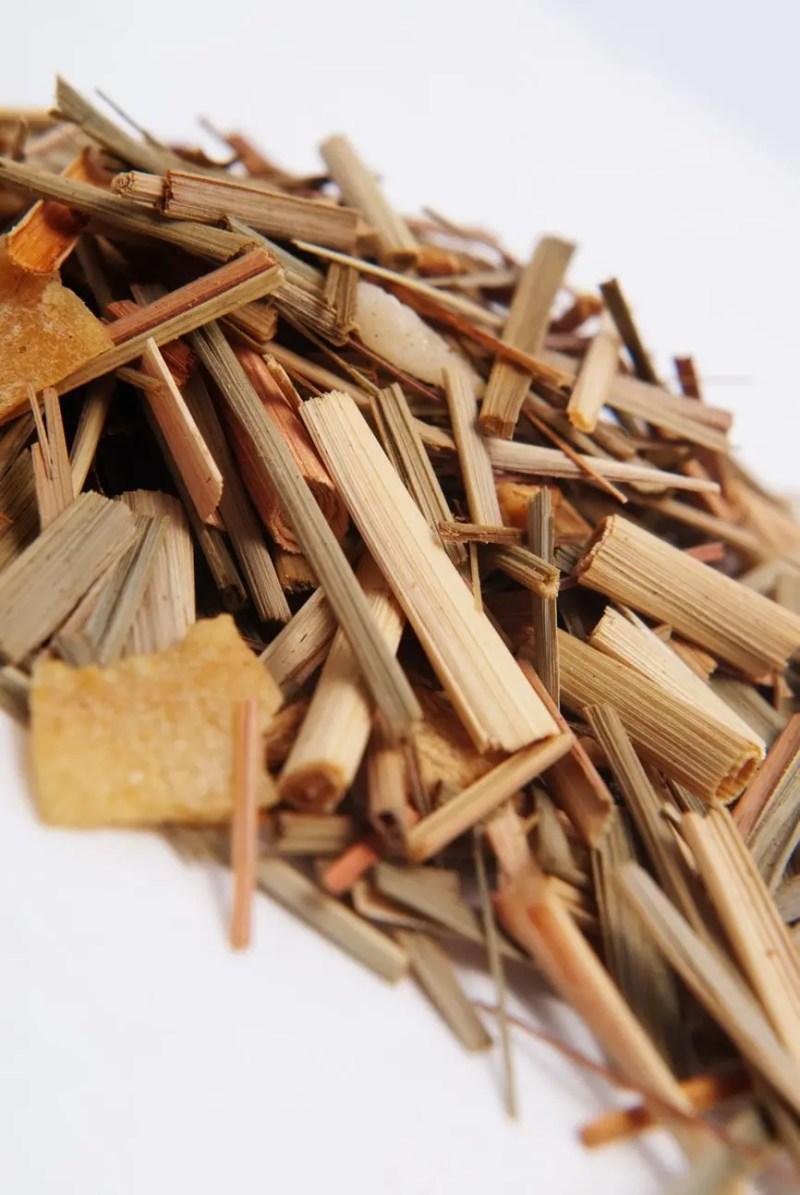 close up photo of Charleston Chai loose leaf tea