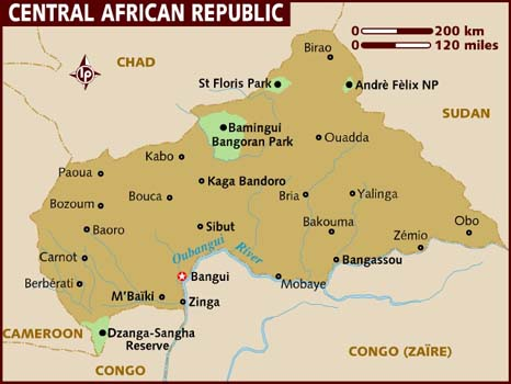 central-african-republic map