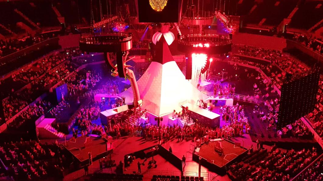 Mexico City Auditorium during light show